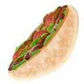 Stuffed Flatbread on Emojipedia 11.1