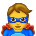 Superhero on Emojipedia 11.1