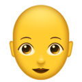 Woman, Bald on Emojipedia 11.1