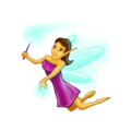 Woman Fairy on Emojipedia 11.1