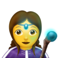 Woman Mage on Emojipedia 11.1