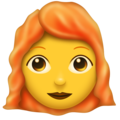 Woman, Red Haired on Emojipedia 11.1