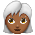Woman: Medium-Dark Skin Tone, White Hair on Emojipedia 11.1