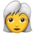 Woman: White Hair on Emojipedia 11.1