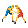 People Wrestling on Emojipedia 11.1