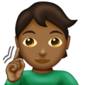 Deaf Person: Medium-Dark Skin Tone on Emojipedia 12.0