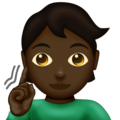 Deaf Person: Dark Skin Tone on Emojipedia 12.0