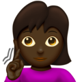 Deaf Woman: Dark Skin Tone on Emojipedia 12.0