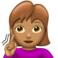 Deaf Woman: Medium Skin Tone on Emojipedia 12.0