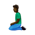 Person Kneeling: Dark Skin Tone on Emojipedia 12.0