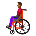 Man in Manual Wheelchair: Medium-Dark Skin Tone on Emojipedia 12.0