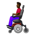 Man in Motorized Wheelchair: Dark Skin Tone on Emojipedia 12.0