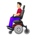 Man in Motorized Wheelchair: Light Skin Tone on Emojipedia 12.0