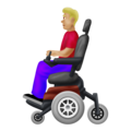 Man in Motorized Wheelchair: Medium-Light Skin Tone on Emojipedia 12.0
