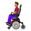 Man in Motorized Wheelchair: Medium Skin Tone on Emojipedia 12.0