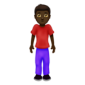 Man Standing: Dark Skin Tone on Emojipedia 12.0