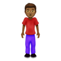 Man Standing: Medium-Dark Skin Tone on Emojipedia 12.0