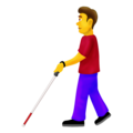 Man With Probing Cane on Emojipedia 12.0
