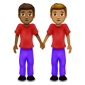Men Holding Hands: Medium-Dark Skin Tone, Medium Skin Tone on Emojipedia 12.0