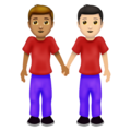 Men Holding Hands: Medium Skin Tone, Light Skin Tone on Emojipedia 12.0