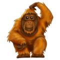 Orangutan on Emojipedia 12.0