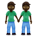 People Holding Hands: Dark Skin Tone on Emojipedia 12.0
