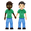 People Holding Hands: Dark Skin Tone, Light Skin Tone on Emojipedia 12.0