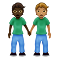 People Holding Hands: Dark Skin Tone, Medium Skin Tone on Emojipedia 12.0