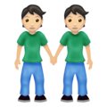 People Holding Hands: Light Skin Tone on Emojipedia 12.0