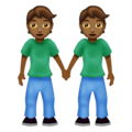 People Holding Hands: Medium-Dark Skin Tone on Emojipedia 12.0