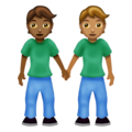 People Holding Hands: Medium-Dark Skin Tone, Medium Skin Tone on Emojipedia 12.0