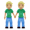 People Holding Hands: Medium-Light Skin Tone on Emojipedia 12.0