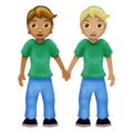 People Holding Hands: Medium Skin Tone, Medium-Light Skin Tone on Emojipedia 12.0