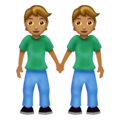 People Holding Hands: Medium Skin Tone on Emojipedia 12.0