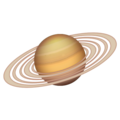 Ringed Planet on Emojipedia 12.0