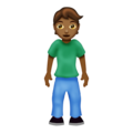 Person Standing: Medium-Dark Skin Tone on Emojipedia 12.0