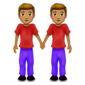 Men Holding Hands: Medium Skin Tone on Emojipedia 12.0
