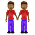 Men Holding Hands: Medium-Dark Skin Tone on Emojipedia 12.0