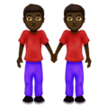 Men Holding Hands: Dark Skin Tone on Emojipedia 12.0