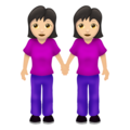 Women Holding Hands: Light Skin Tone on Emojipedia 12.0