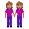 Women Holding Hands: Medium Skin Tone on Emojipedia 12.0