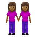 Women Holding Hands: Medium-Dark Skin Tone on Emojipedia 12.0