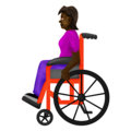 Woman in Manual Wheelchair: Dark Skin Tone on Emojipedia 12.0