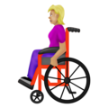 Woman in Manual Wheelchair: Medium-Light Skin Tone on Emojipedia 12.0