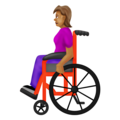 Woman in Manual Wheelchair: Medium Skin Tone on Emojipedia 12.0