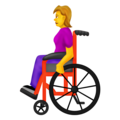 Woman in Manual Wheelchair on Emojipedia 12.0
