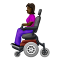 Woman in Motorized Wheelchair: Dark Skin Tone on Emojipedia 12.0
