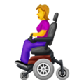 Woman in Motorized Wheelchair on Emojipedia 12.0