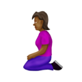 Woman Kneeling: Medium-Dark Skin Tone on Emojipedia 12.0