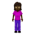 Woman Standing: Dark Skin Tone on Emojipedia 12.0
